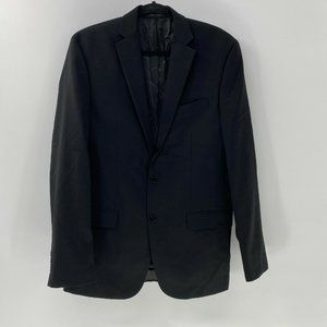 Calvin Klein mens wool suit jacket sz 40L Black